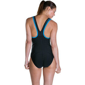speedo Speedo Fit PowerMesh Pro Swimsuit Damen black/winsdor blue/white